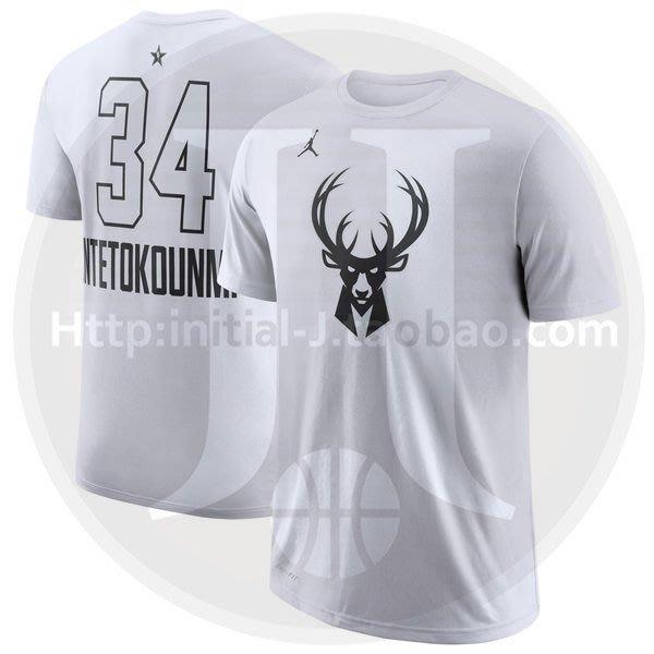 NBA2019全明星賽球衣 雷霆隊 公鹿隊 揚尼斯·安戴托昆波 Antetokounmpo 白色T恤