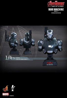 全新未開封 Hottoys 1:4 War Machine Mark II 戰爭機器 半胸像 Avengers Ultron 鐵甲奇俠 Bust 半身像 胸像