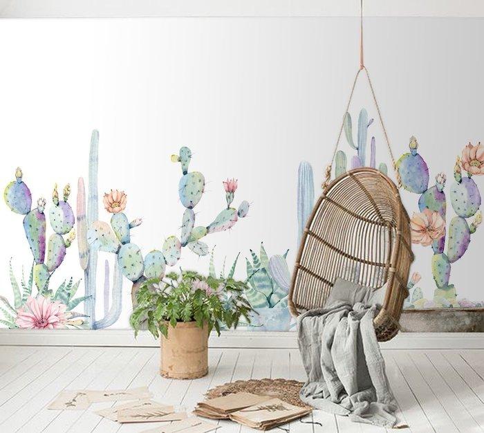 【Uluru】客製化 壁紙 壁畫 北歐風 森林系列 動物 仙人掌 整幅壁畫 DIY壁紙 客廳牆 咖啡廳 早午餐 設計師款