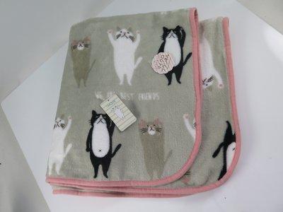 iSport 聖誕禮品 日本代購 貓咪 喵星人最愛 單人毛毯 保暖抗寒 聚酯纖維 柔棉觸感 809071 交換禮物