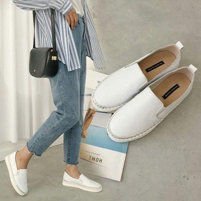 韓國東大門真皮手工縫製樂福鞋 懶人鞋