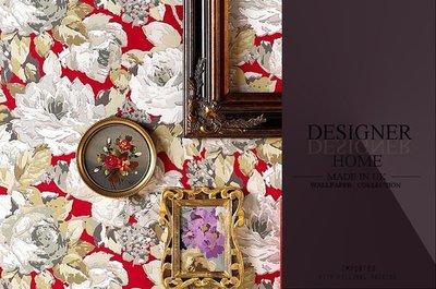 【LondonEYE】DESIGNER 英國進口期貨壁紙 AROSA 怒放 英式古典花卉/油畫筆觸 歐洲純紙《P573》