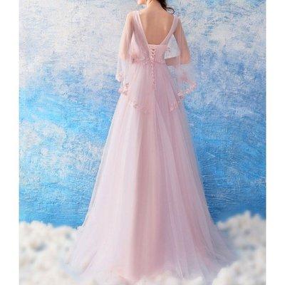 (45 Design) 高雄長禮服婚紗禮服伴娘服 托尾晚禮服 結婚 訂婚大小可做商品編號B22
