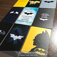 正義聯盟 DC 蝙蝠俠 黑暗騎士 蝙蝠飛鏢 icash2.0 悠遊卡 一卡通 限量 卡貼