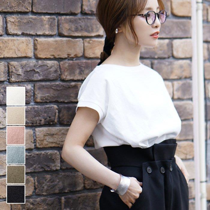 《FOS》日本 女生 素T 短袖 短T T恤 白T 女款 純棉 透氣 舒適 好搭 時尚 夏天 雜誌款 2020新款