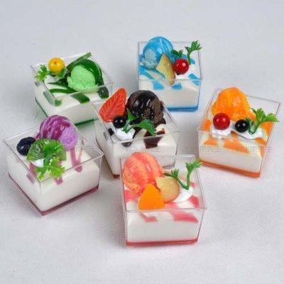 [MOLD-D152]仿真麵包假麵包模型 家居冰箱裝飾品 道具仿真方形小雪糕杯