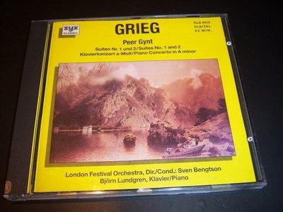 CD-GRIEG/PEER GYNT,KLAVIERKONZERT.PIANO CONC/西德版,片如新