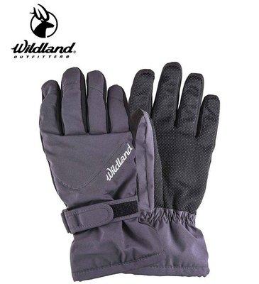 丹大戶外用品【Wildland】荒野 中性彈性PR防風防水手套-深灰 型號 0A22002-93