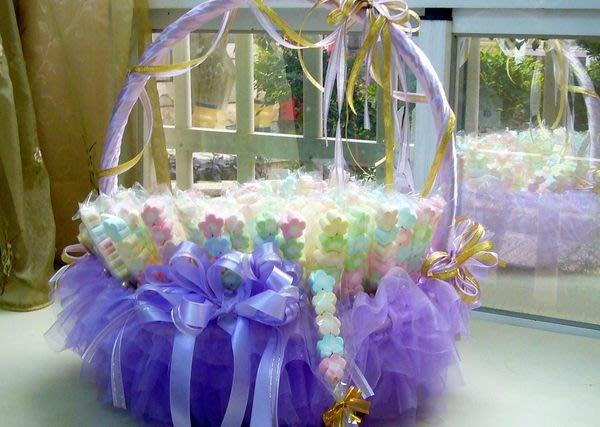 ☆命中注定☆小花棉花糖豪華套裝組,二次進場喜糖,婚禮小物(999元.贈姓名貼)