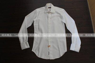 日本 BESPOKE TAILOR DMG 白色小方格袖扣襯衫