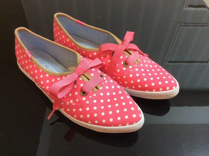*Beauty*Ked's珊瑚粉色點尖頭平底帆布鞋  GR EUR37.5 僅穿一次 原價1890元