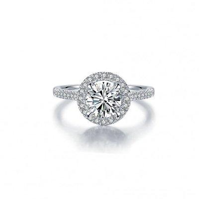 婚戒系列2克拉 18K金鑽石戒指 (莫桑石、摩星鑽、美神來 生日禮物 定情 鑽石品質)