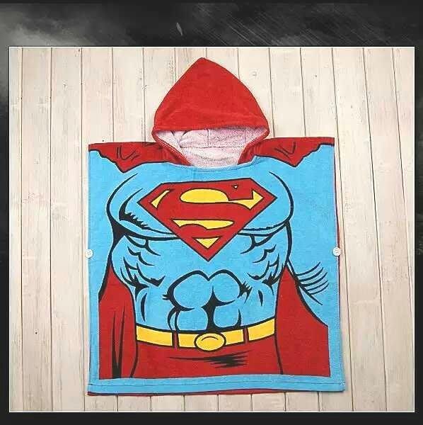 *ω*茱蒂*ω*  出口日本 迪士尼卡通動物造型浴巾浴袍沙灘毛巾披風/浴袍    超人/現貨