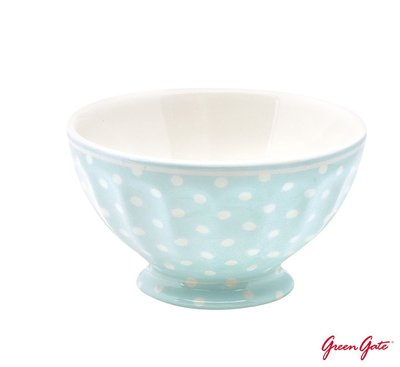 GreenGate French Bowl Spot Pale Blue - Large (法式拿鐵碗)