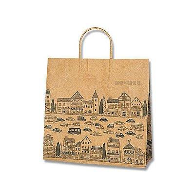 【寵愛物語包裝】日本進口 牛皮 NEW TOWN 包裝袋 禮品袋 手提紙袋 50入 3才