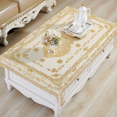 【星居客】 燙金桌布PVC茶幾墊防水防燙防油長方形歐式簡約免洗塑料餐桌台布S932
