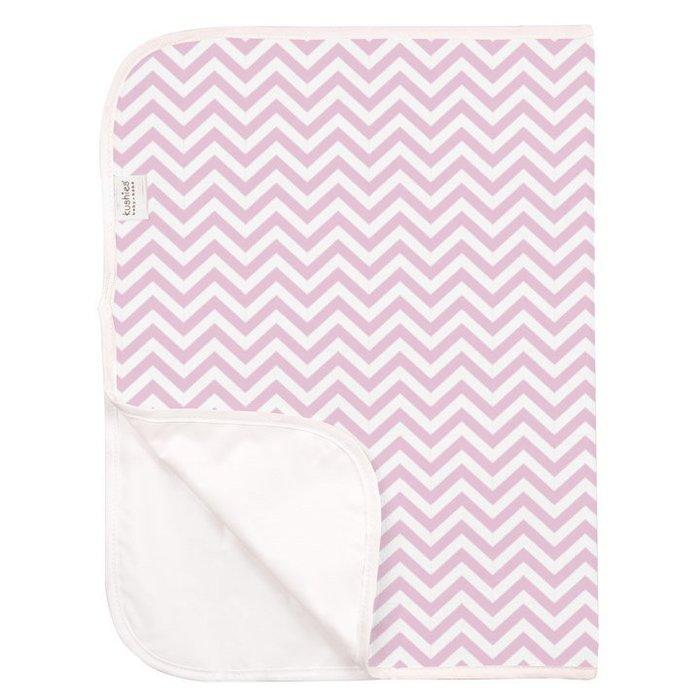 【兔寶寶部屋】kushies加拿大進口-純棉毛巾布防水保潔墊‐粉紅山形紋51x76cm
