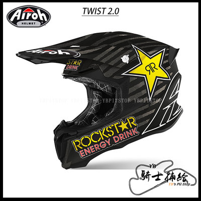 ⚠YB騎士補給⚠ Airoh Twist 2.0 Rockstar 越野 滑胎 林道 輕量化 OFF ROAD