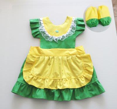 •*~ 辣媽咪衣飾小舖 ~*•❤童裝系列❤K530362兒童圍裙防水罩衣無袖背心式吃飯畫畫圍裙+袖套