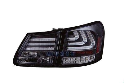 ~~ADT.車燈.車材~~LEXUS GS300 GS350 GS430 GS450 06~12 LED光柱燻黑尾燈一