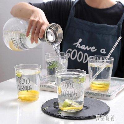 家用玻璃杯套裝歐式客廳加厚喝水杯子果汁杯耐高溫水杯泡茶杯帶把