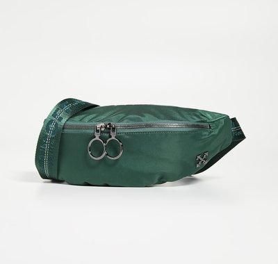 【SHOPPA】 OFF WHITE  工業風 帆布 腰包  19秋冬 綠色