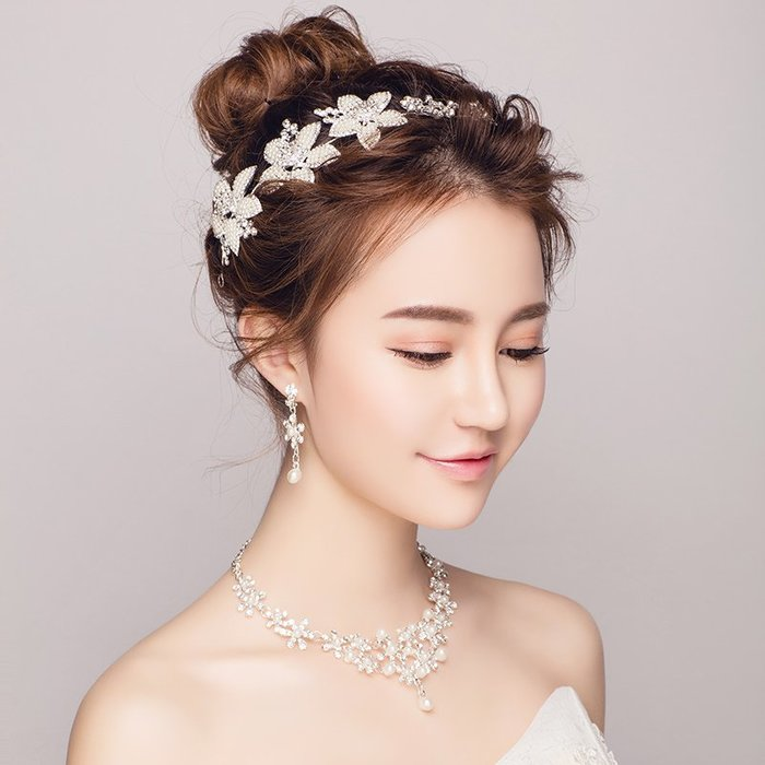 解憂zakka~ 新娘頭飾超仙2019新款大氣簡約發箍韓式婚紗禮服結婚飾品婚禮發飾#頭飾#髮飾