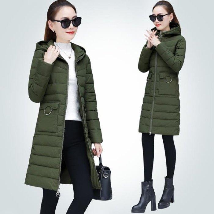 羽絨外套 中長款韓版學生加厚棉服棉襖女外套女