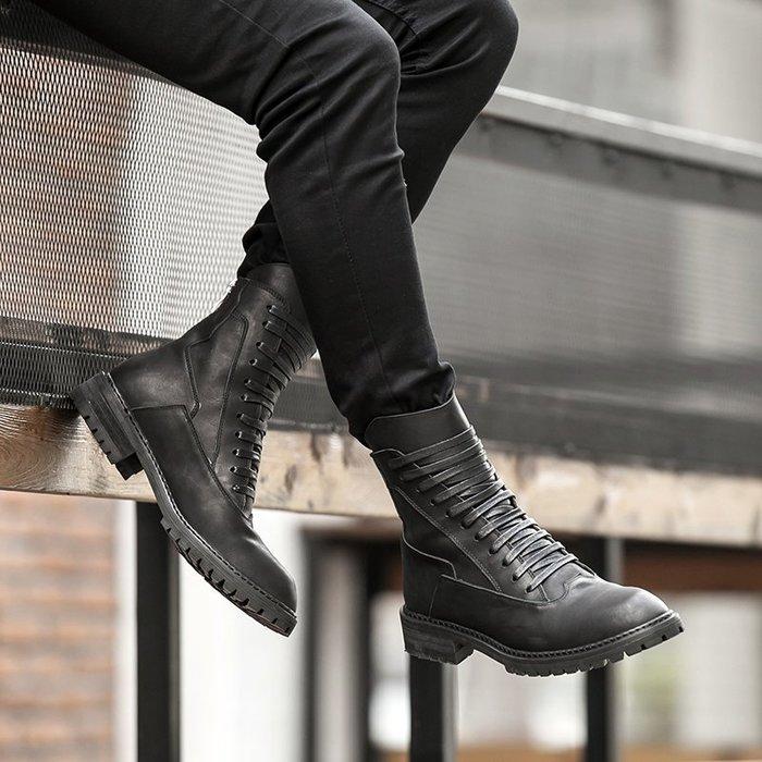 NYCT 韓國熱賣限定原創 高品質 歐美韓星百搭時尚必備款 英倫馬丁靴男真皮男靴子復古男士短靴冬季加絨保暖男短靴男士靴子