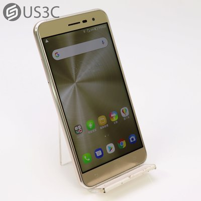 【US3C-松山店】【一元起標】台灣公司貨 華碩 ASUS ZenFone 3 ZE520KL 3G/32G 5.2吋 金色 指紋辨識 二手手機 雙卡雙待