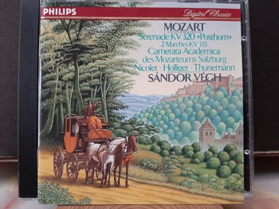 Vegh,Camerata Salzburg,Mozart-Serenade&2 Marches維格指揮薩爾茲堡室內樂團,演繹莫扎特-小夜曲,嬉遊曲,進行曲