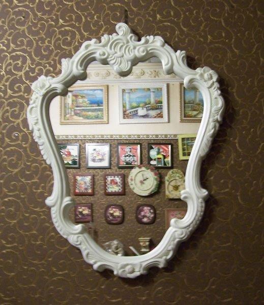 [ 浮雕 PU掛鏡 ]-  巴洛克-畫框 相框 像框 維多利亞 立體PU浮雕鏡框/浮雕框   含鏡片 @$5280