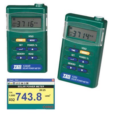 【電子超商】含稅有發票 泰仕 TES-1333R 太陽功率錶 RS-232 介面 可接電腦分析記錄