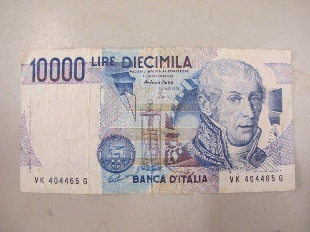 二手舖 NO.429 歐洲紙鈔-義大利1984年10000元