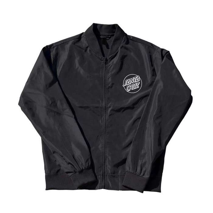 [CABAS滑板店] SANTA CRUZ OPUS DOT BOMBER JACKET 黑色 │防風外套