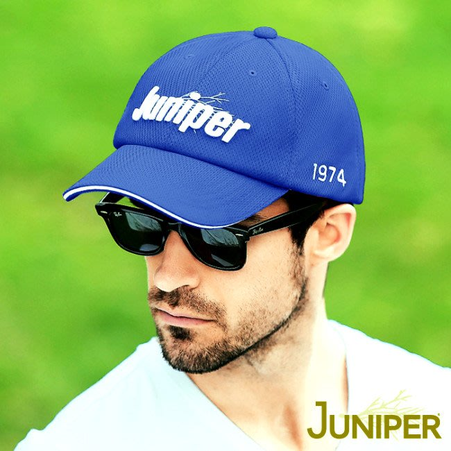 JUNIPER 中性透氣抗UV棒球帽 J7560寶藍 遮陽帽 棒球帽 防曬帽 抗UV 喜樂屋戶外休閒