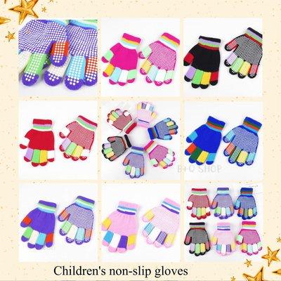秋冬季薄款防滑印膠兒童手套 兒童手套 針織手套 保暖手套 防寒手套 兒童保暖手套 兒童全指手套 手套 全指手套 學生手套