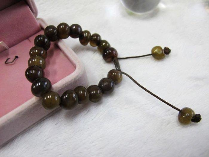 二手舖~ NO.103 天然瑪瑙手鍊 項鍊 串珠