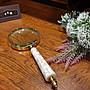 【卡卡頌 歐洲跳蚤市場/歐洲古董】歐洲 ~  華麗珠母貝  大尺寸  手持放大鏡  ss0503✬