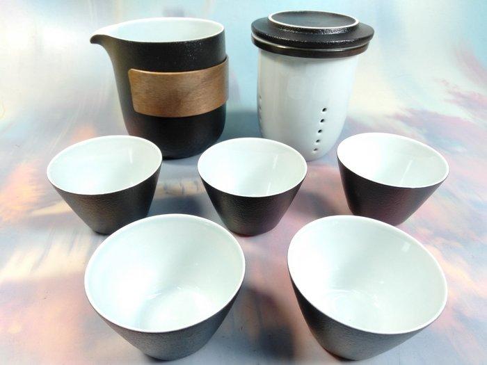 珍珠黑釉一壺五杯旅行組【09876155】泡茶用品 茶具 泡茶旅行組 外出用品《八八八e網購