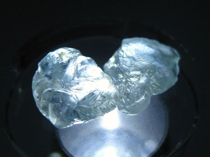 拓帕石 Topaz 天然無燒無處理 自然藍 原礦 標本 礦石 35【Texture & Nobleness 低調與奢華】
