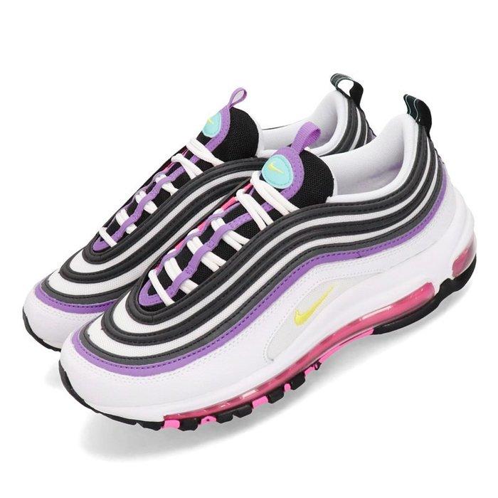 POMELO柚 NIKE WMNS AIR MAX 97 復古 運動鞋 慢跑鞋 白黑紫 921733-106
