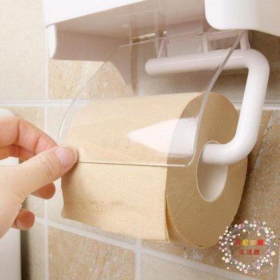 衛生紙架洋洋魚衛生間卷紙架置物架塑料強力吸盤免打孔廁所紙巾盒防水創意 (全館免運)