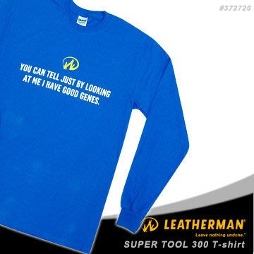 【angel 精品館 】  Leatherman 原廠 Super tool 300 T-shirt 藍色長袖T恤