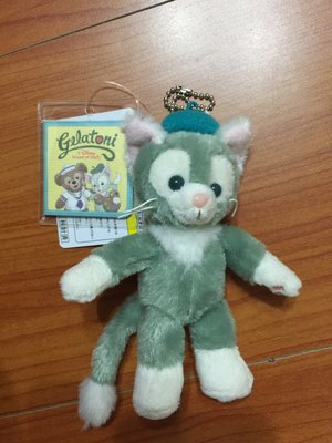 《日本迪士尼帶回》達菲雪莉梅的新朋友 畫家貓咪 傑拉東尼 站姿珠鏈 現貨
