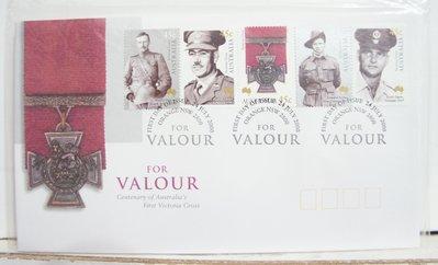 (全新) 2000年-澳洲-For Valour -首日封 (郵票)