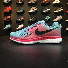 D-BOX NIKE AIR ZOOM PEGASUS 34 粉藍 黑 網面透氣 復古色 慢跑鞋 女休閑鞋