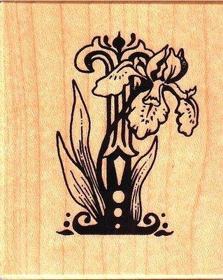 陽光一品DIY卡片印章專賣店~~PSX印章--英文字花形I(蘭花)--##F1108##~~美國製絕版