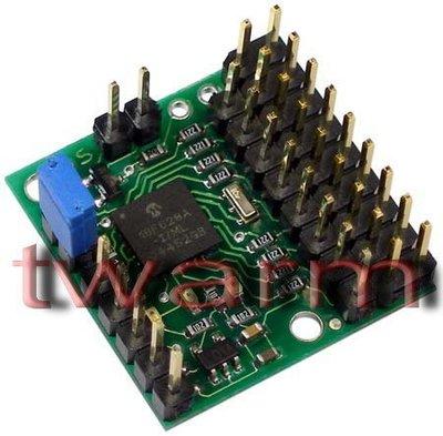 《德源科技》r)Pololu Micro Serial Servo Controller 8軸微型串列馬達控制器
