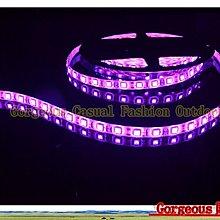 高亮三晶5050 單色滴膠防水燈條IP65 12v 300顆LED燈珠/5米 櫃檯燈 藏光燈帶 造景燈 粉紫色